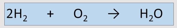 Reacción químcia del agua