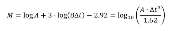 Ecuación Escala de Richter